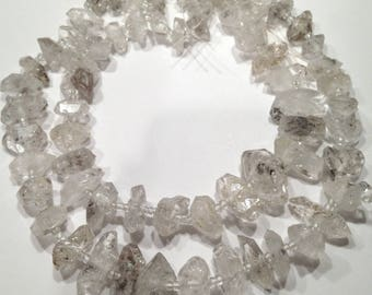 """Herkimer """"diamond"""" rough nuggets.   Select a size:  4.5x10mm - 9x25mm"""