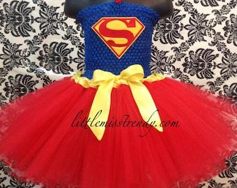 Superman Tutu Dress, Super Girl Tutu Costume, Super Hero Tutu Dress, Super Hero Costume Girls, Girls Super Man Tutu Dress Tutu Dress Costume
