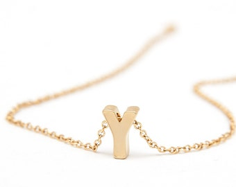 Dainty Letter Necklace for Her - Tiny Initial Gold Necklace - Dainty Initial Necklace for Daughter - Uppercase Monogram Initial Necklace