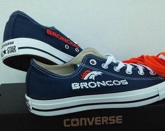 Denver Broncos Converse Chucks Mens Womens