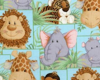 Jungle Babies Nursery Cotton Fabric