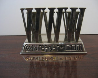 Silver Plated Internet Themed Letter Holder