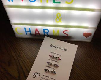Triple partners in crime wish bracelets