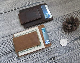 Personalized Leather Money Clip,Money Clip,Leather Wallet,Card Wallet,Slim Wallet,Mens Wallet,Minimalist Wallet Clip, Credit Card Holder