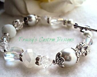 "The ""Bridal Beauty"" Bracelet - Custom made jewelry"