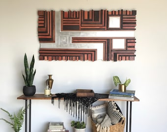 Serenity Division // mosaic wood art //  wood assemblage