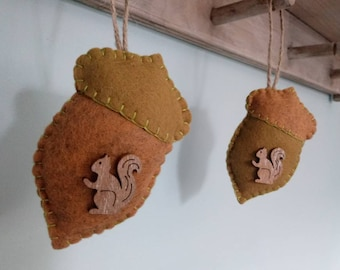 Little Acorns Felt Decorations/Autumn/Fall