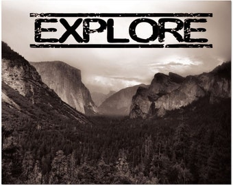 Yosemite Art • Explore • Black and White Photography Featuring El Capitan Half Dome and Yosemite Valley