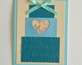 Birthday Presents Handmade Shaker Card