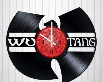 Wu-Tang Clan Band 12 inch / 30 cm Vinyl Record Wall Clock | Music Clock | gift for kids bedroom decor | music art for men | CHRISTMAS GIFTS