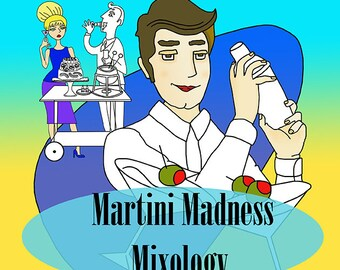Martini Madness Mixology Instant download adult coloring book, Coloring Books, Adult Coloring Pages, Coloring Books for Adults