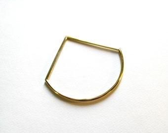 Minimalist Bangle-Geometric Bangle-Gold Bangle Bracelet-Thin Gold Bangle Bracelet-Modern Jewelry-Statement Bangle-Dainty Bangle