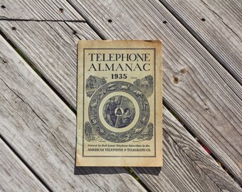 Bell Telephone Almanac from 1935 American Telephone and Telegraph Company