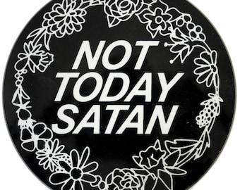 Not Today Satan Round Coaster -Matching Mug Available- Feminist Feminism RuPaul Bianca Del Rio Trans Drag Queer LGBTQ Gift Secret Santa