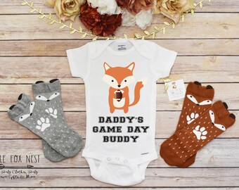 Baby Boy Clothes, Daddy and Me Shirt, Boy Onesie®, Football Onesie®, Football Shirt®, Baby Boy Outfit, Fox Shirt, Game Day Shirt