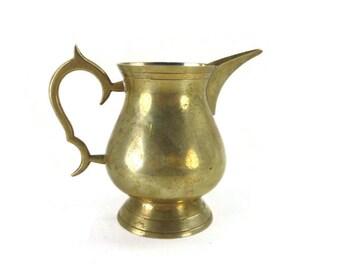Vintage Brass Creamer
