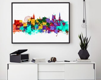 Sheffield City Print, Sheffield Skyline, Sheffield Wall Art Decor, Birthday Gift, Home Decor, Giclee Print, Bedroom Decorations (N1008)