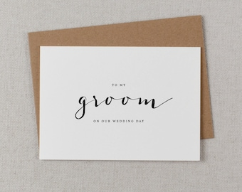 To My Groom On Our Wedding Day, I Can't Wait To Marry You, Wedding Card to Groom, Wedding Day Card, Wedding Cards, Future Husband Card, K4