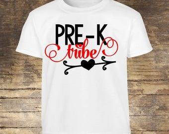 PreK Shirt, Pre-K Shirt Girls, Pre K Girls, Preschool Shirt, Back To School Shirt, First Day Of School, 1st Day Of School,First Day of Pre-K