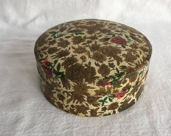 Vintage 1950s or 1960s Paper Mache Coasters by Alfred E. Knobler & Co Rose Design Set of Six