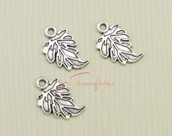40PCS--18x12mm ,Leaf Charms, Antique Tibetan silver Leaf charm pendants , DIY supplies,Jewelry Making JAS03218D