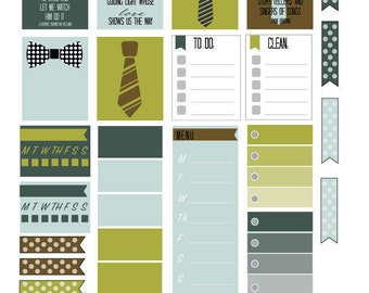 Father's Day planner stickers