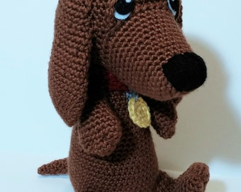Amigurumi Wiener Dog Pattern : Dash the dachshund pup crochet pattern pdf from mostlystitchin