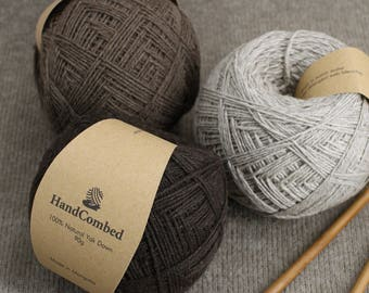 Mongolian Natural 100% Yak Down Organic Mongolian Premium Yak Wool Undyed Natural Colour Yak Wool Yarn