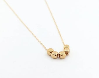 five cube necklace in gold