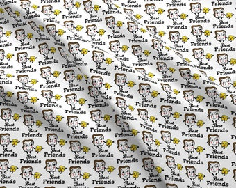 Buttered Toast BFF Fabric - Bread And Butter By Andibird - Best Friends Breakfast Hipster Food Cotton Fabric By The Yard With Spoonflower