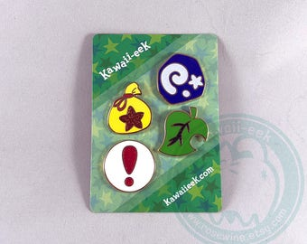 Animal Crossing Items Enamel Pin Set