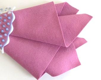 Rose Pink Felt, 100% Wool, Felt Sheet, Large Felt Square, Choose A Size, DIY Supply, Waldorf Handwork, Felt Flowers, Doll Supply, Soft Pink