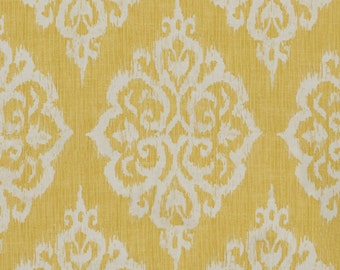 Two  26 x 26 Custom Pillow Covers Euro Shams  - Large Damask - Gold
