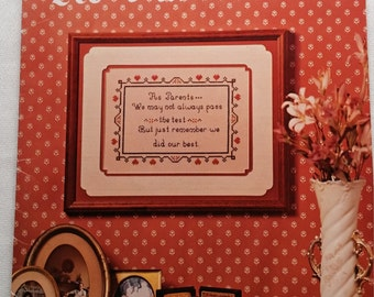 As Parents Cross Stitch Leaflet by Rayna Designs