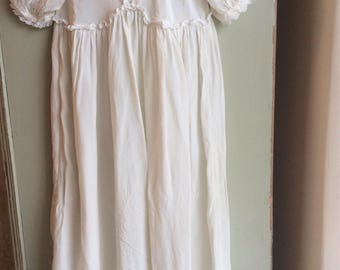 A sweet Vintage Silk Christening Gown.