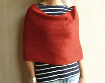 4-way knit wrap infinity scarf cowl snood in carmine red