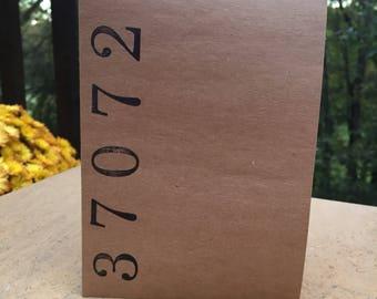 Zip Code notecards, set of 8