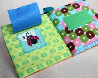 Quiet Book, Montessori Baby, Baby Gift, Fabric Busy Book , Sensory Book, Busy Bag, Waldorf, Fabric Baby Book, Sensory Toy