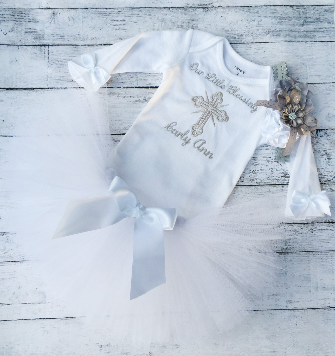 Baby Girl Baptism Outfit Baby Girl Christening Outfit Baby