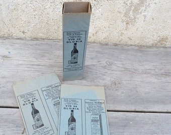 Vintage Antique French 1900s box medicinal Apothicary pharmacy paper box set of 3