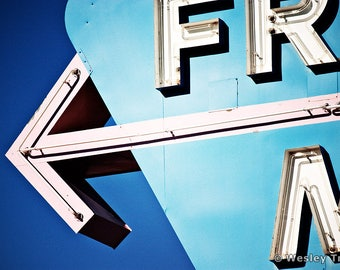Frontier Motel - Neon Midcentury Motel Sign Photograph