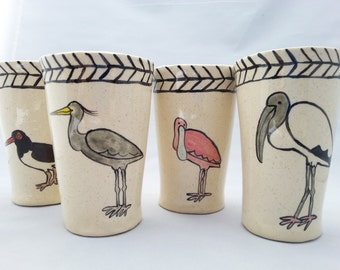 Coastal Bird Tumblers Set of Four