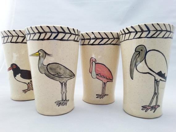 Coastal Bird Tumblers Set of Four