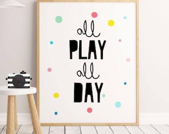 Playroom Wall Art,Letu0027s Play, Nursery Decor, Playroom Decor, Playroom Sign,  Playroom Decal, Playroom Art, Playroom Wall Decor, For Playroom