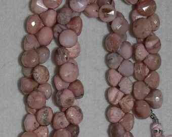 Opal, Pink Opal, Pink Opal Briolette, Onion Briolette, Faceted Briolette, Semi Precious, Natural Stone, Half Strand, 10 mm, AdrianasBeads
