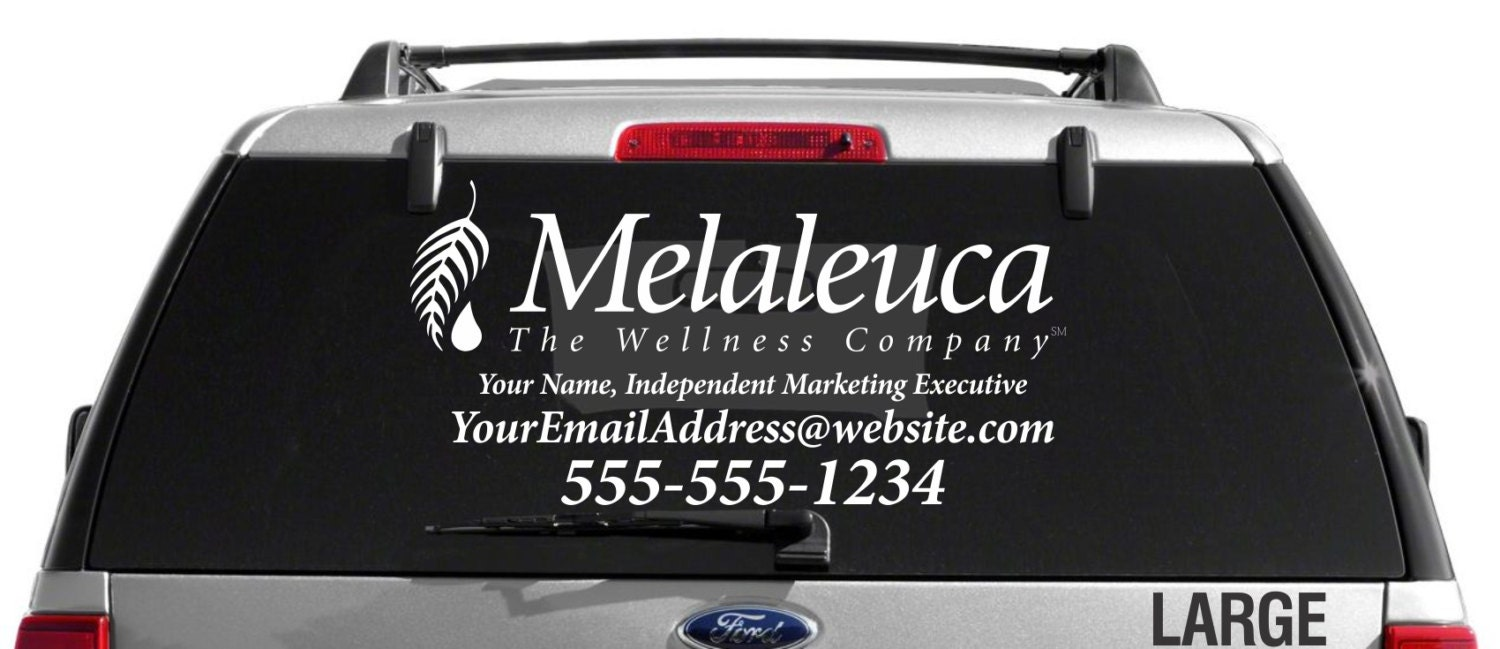 SALE Melaleuca Single Color Custom Vehicle Decal - Custom window decals for vehicles
