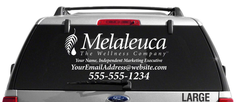 SALE Melaleuca Single Color Custom Vehicle Decal - Custom vehicle window decals