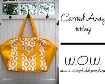 Carried Away Totebag PDF Sewing Pattern