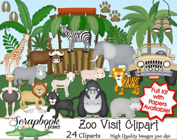 zoo visit clipart 24 png clipart files instant download rh etsy com zoo clipart background zoo clipart background
