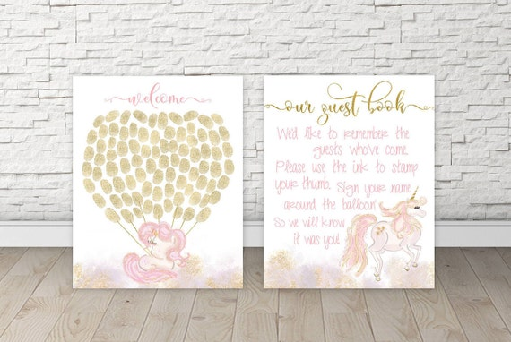 Guestbook Baby Shower Unicorn Baby Shower Guest Book Ideas